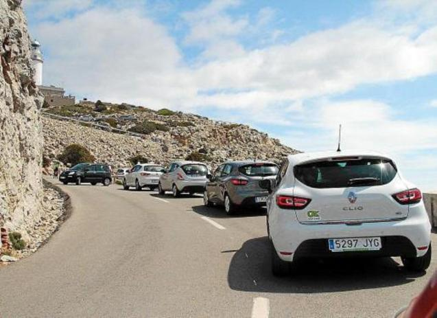 Cars on the road to Formentor