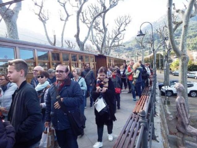 The Soller train is always popular