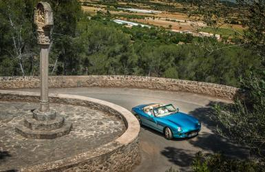 TVR Chimera in Majorca and in full flow, look out for the dog bite.