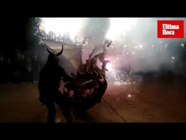 Sant Antoni , bonfires, barbecues and demons in Palma.
