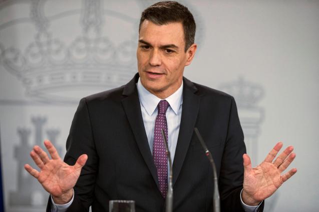 Spain's Prime Minister Pedro Sánchez