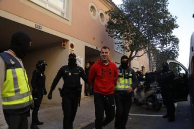 Stefan Milojevic was arrested in Palma on Thursday morning.