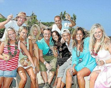 Previous contestants on Love Island, the hit ITV2 show filmed in Majorca.