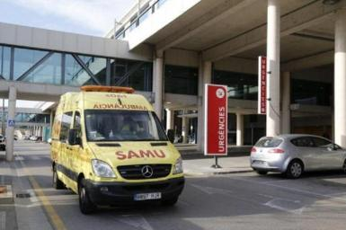 The man was transferred to Son Espasses hospital.