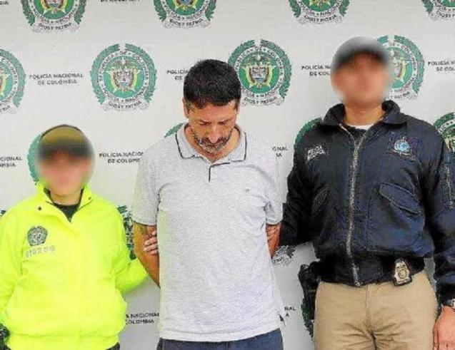 Businessman Carlos García Roldán, 'Charly', after being arrested in Colombia.
