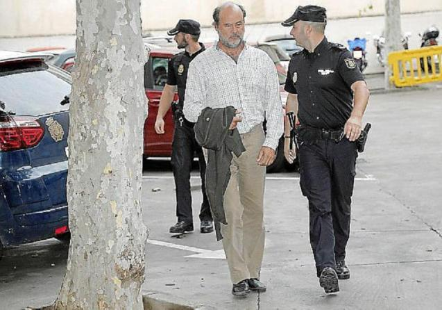 Miguel Femenía after being arrested