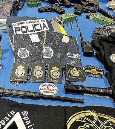 The police material confiscated.
