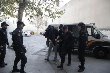 Stefan Milojevic, described as the leader of the United Tribuns, arriving at court.