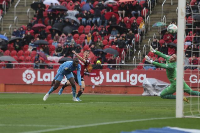 Budimir scores his second and Mallorca's third.