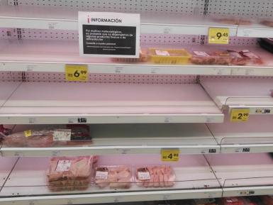 Perishable goods were in short supply.