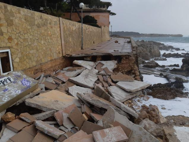 Damage in Cala Ratjada