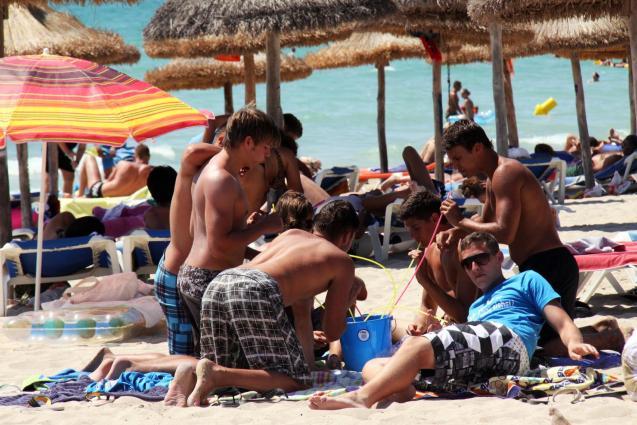 Germans on the Playa de Palma beach