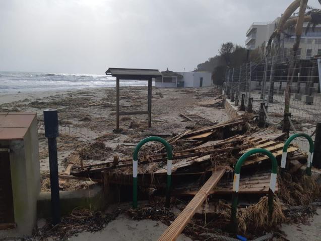Cala Ratjada storm damage