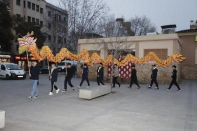 ACHINIB members held a rehearsal of the dragon dances yesterday.