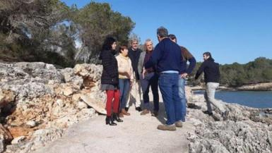 The Mayor of Santanyí, Maria Pons, accompanied the Councillor Isabel Castro and the Island Councillors Alzamora and Colom.