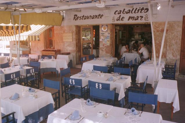 The restaurant Caballito de Mar.