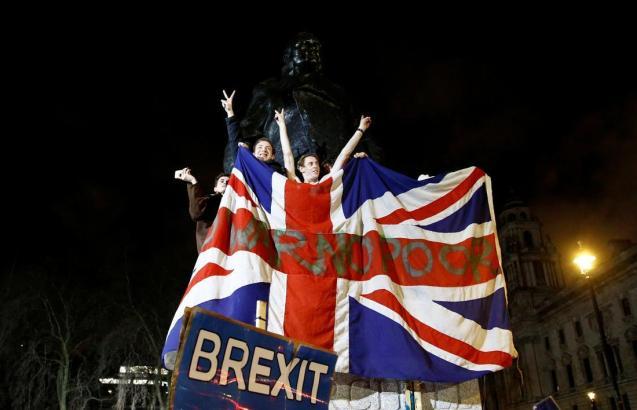 Brexit celebrations in London