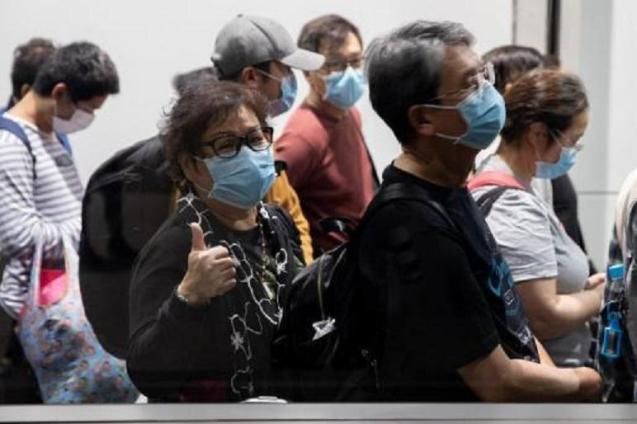 People trying to protect themselves from the virus