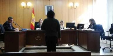 The accused, yesterday, at court in Palma.