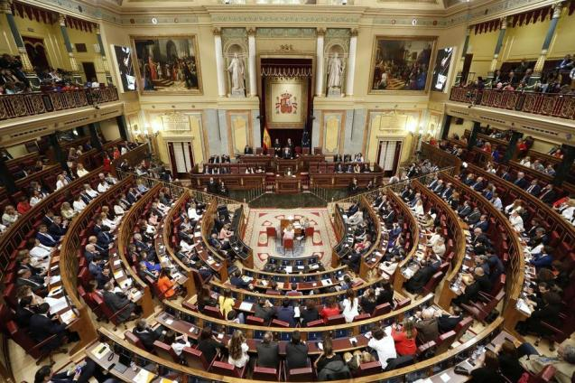 General view of Spain's parliament