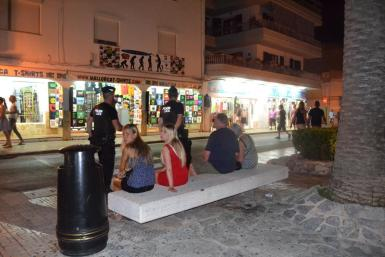 The police night unit is for keeping control in Cala Ratjada.