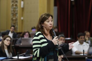 Balearic President, Francina Armengol in parliament yesterday.