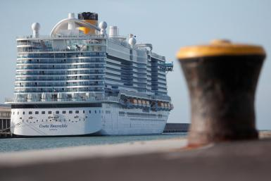 Costa Smeralda comes to Palma's port every Tuesday.