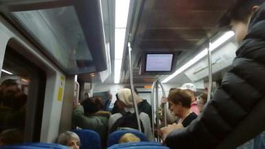 Train overcrowding is a common complaint.