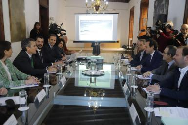 Thursday's meeting between Aena and the Balearic government.