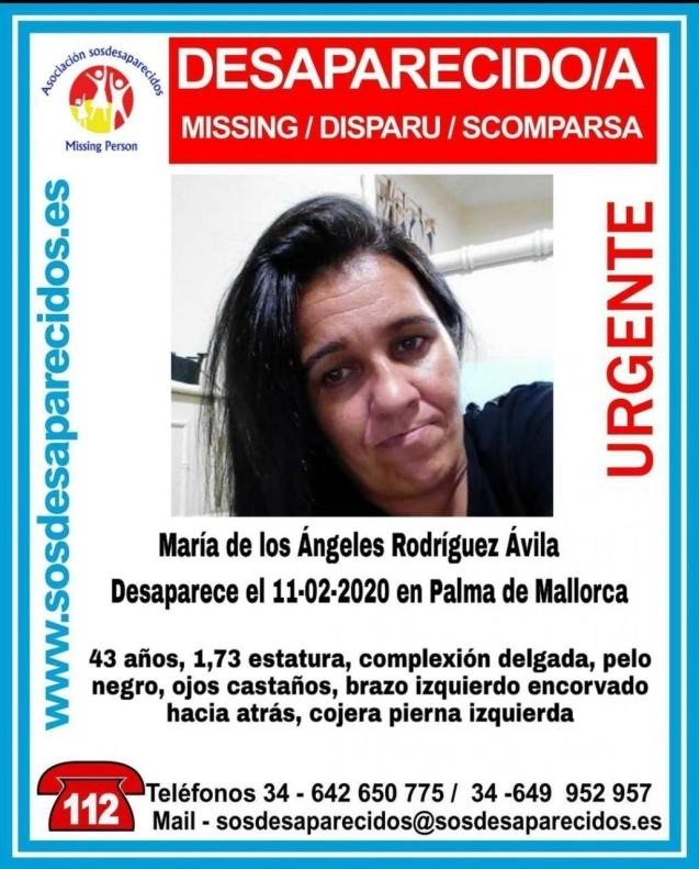 Poster of missing woman