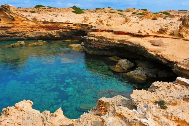 Punta de Sa Pedrera in Formentera, Balearic Islands, Spain