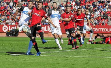 New signing Leonardo Koutris (L) in action.