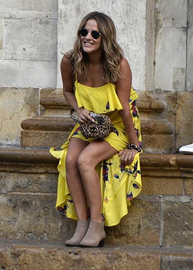 Caroline Flack in Majorca