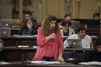 Pilar Costa, minister for equality, in parliament on Tuesday.
