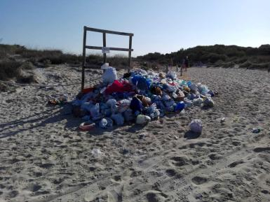 A great deal of waste can accumulate on beaches.
