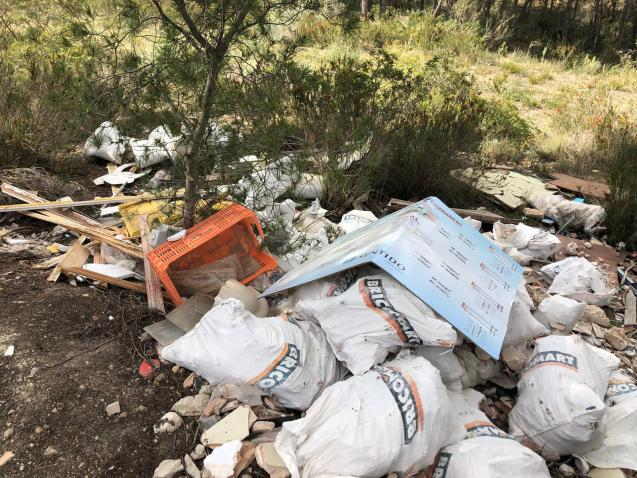Fly-tipping and dumping of building and industrial rubbish.