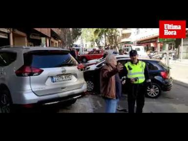 The video of the incident on Calle Industria.