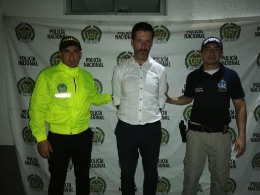 Carlos García Roldán after he was arrested in Colombia