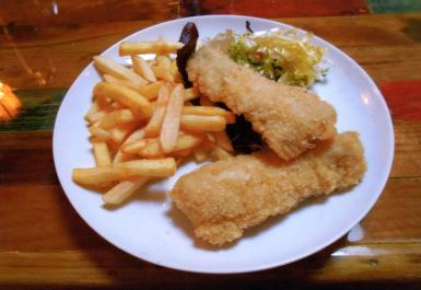 The merluza and chips that was a total success.