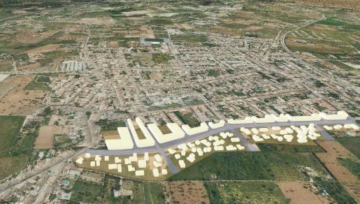 Terraferida photo of planned urbanisation in Santa María del Camí