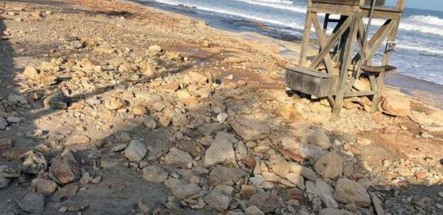Cala Millor beach was badly damaged and lost a lot of sand during Storm Gloria