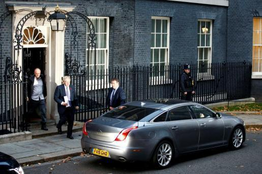 British Prime Minister Boris Johnson & Dominic Cummings leaving Downing Street.