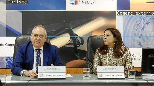 Morocco's Ambassador to Spain, Karima Benyaich & Mallorcan Chamber of Commerce President, Antoni Mercant host a day of Internationalisation in Palma