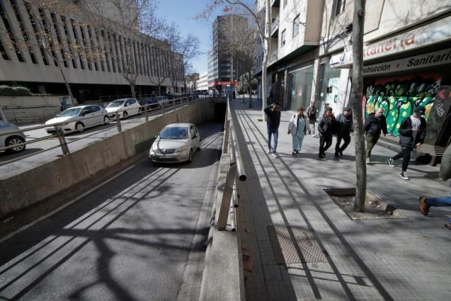 Tunnel will be sealed when Carrer Nuredduna is pedestrianised.