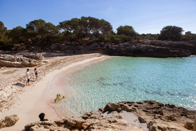 Springtime weather in the Balearic islands.