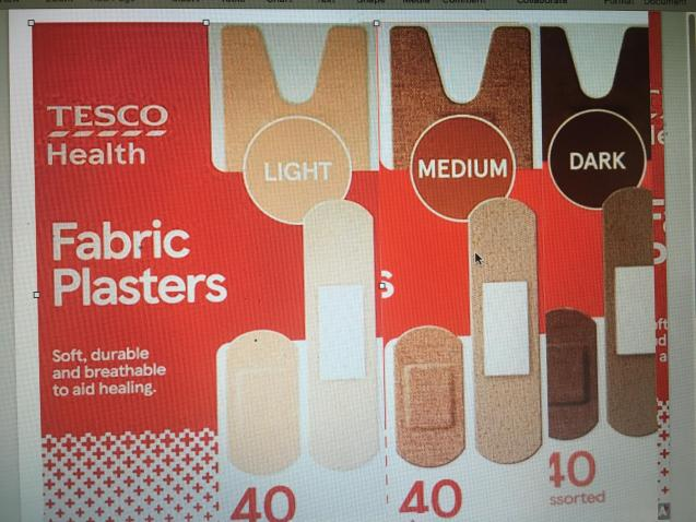 Tesco is the first UK supermarket to introduce sell skin tone plasters.