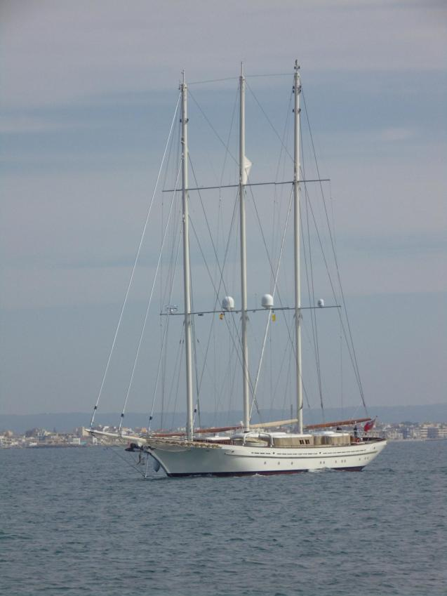 Super sailing yacht Mikhail Vorontsov in Palma.