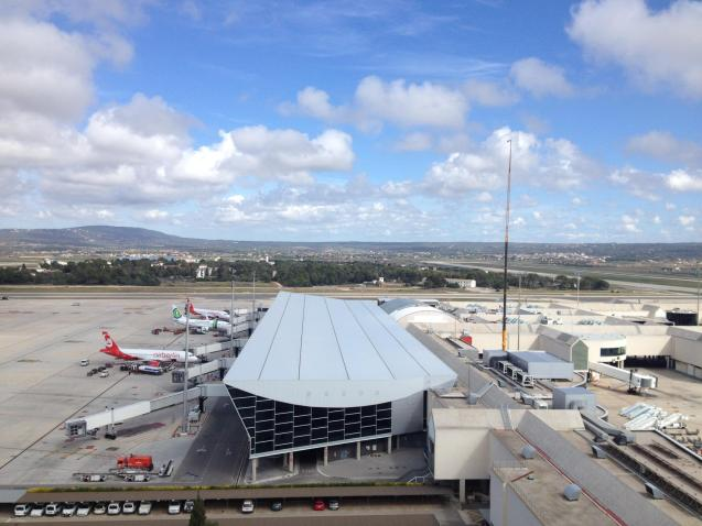 View of Palma's airport