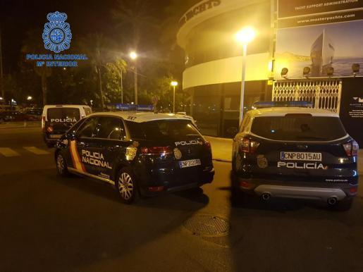 National Police Officers on Paseo Marítimo in Palma.
