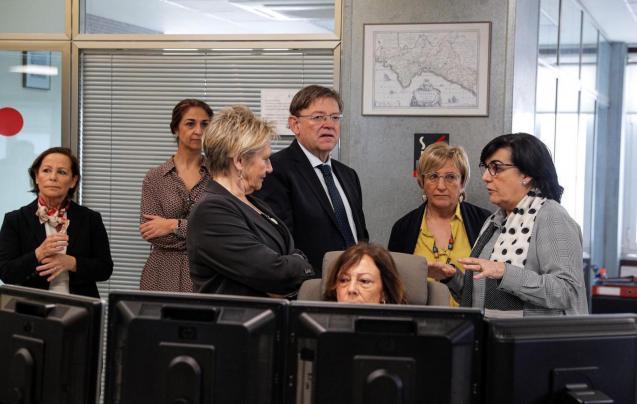 Generalitat President, Ximo Puig & Health Minister, Ana Barceló visit CICU.